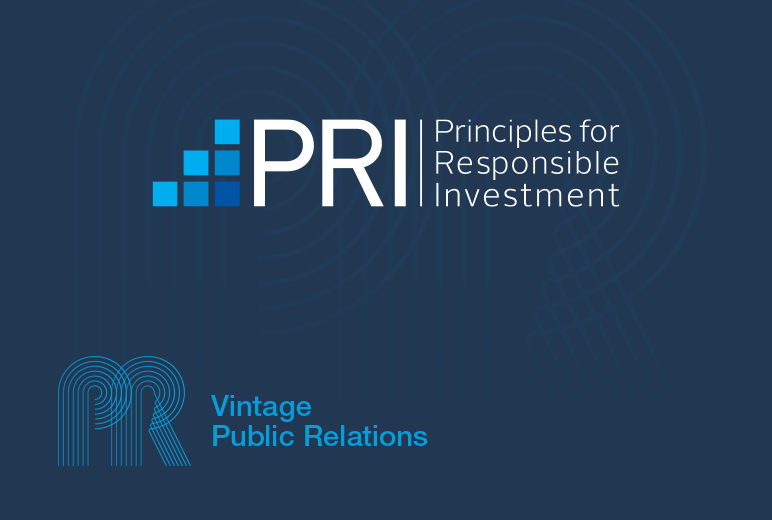 Vintage signs United Nations Supported Principals for Responsible Investment (UN PRI)