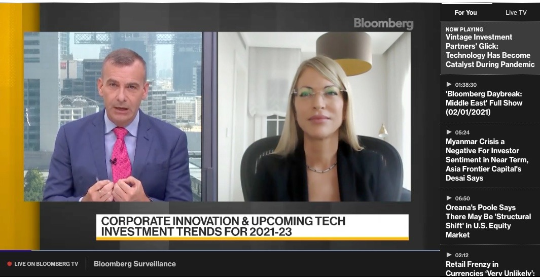 Orly Glick on Bloomberg TV – Technology has become catalyst during the pandemic
